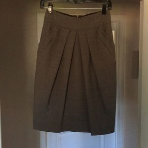 New TRINA TURK Pleated High Waist Pencil Skirt